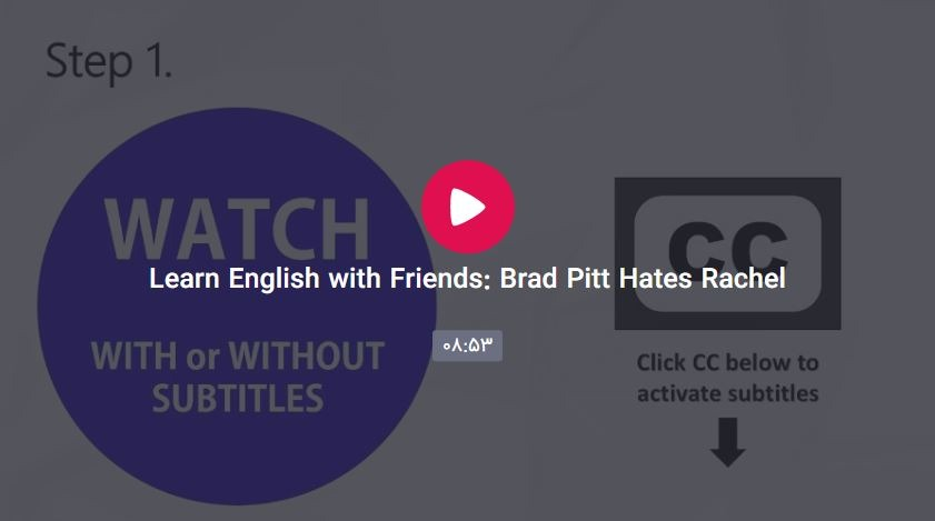 English with Friend Brad Pitt Hates Rachel  - English with Friends: Brad Pitt Hates Rachel